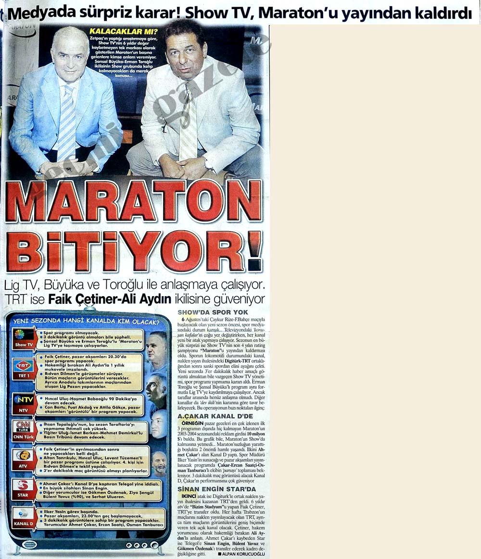 Medyada sürpriz karar! Show TV, Maraton'u yayından kaldırdı