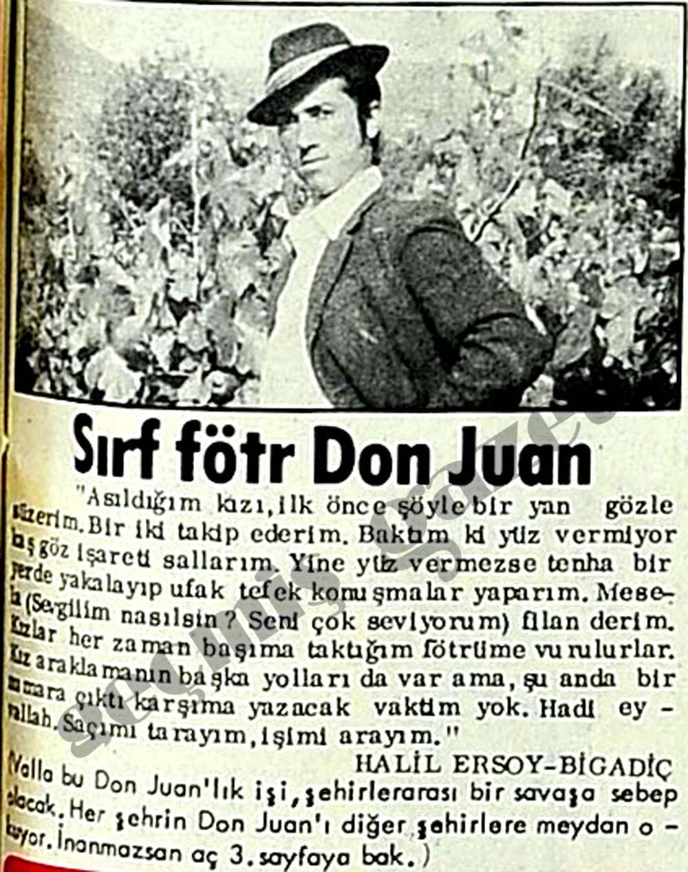Sırf fötr Don Juan