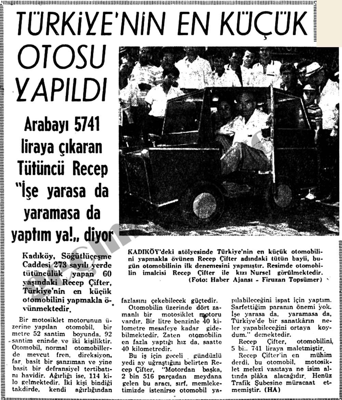 Türkiye'nin en küçük otosu yapıldı