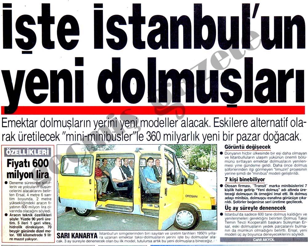 İşte İstanbul'un yeni dolmuşları