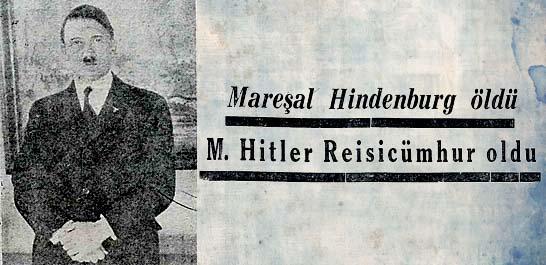 M.Hitler Reisicumhur oldu