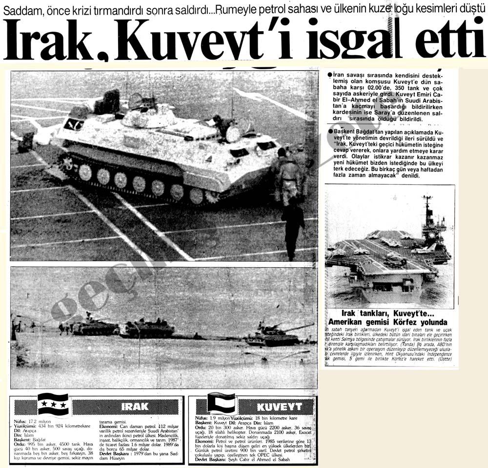 Irak, küçücük Kuveyt'i işgal etti