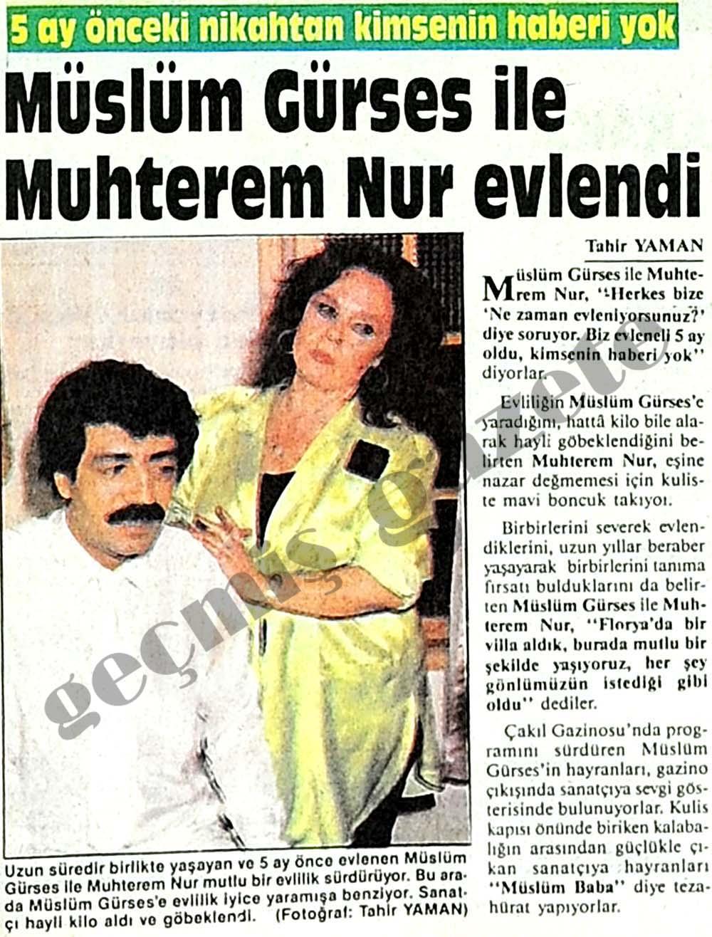 Gürses ile Nur evlendi