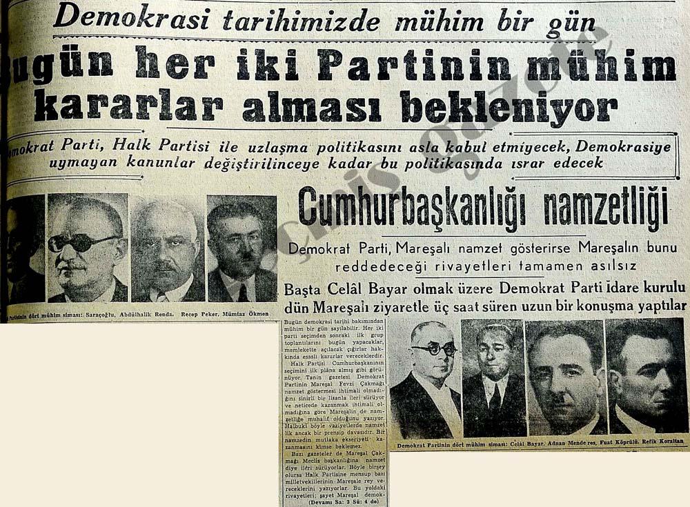 Demokrasi tarihimizde mühim bir gün
