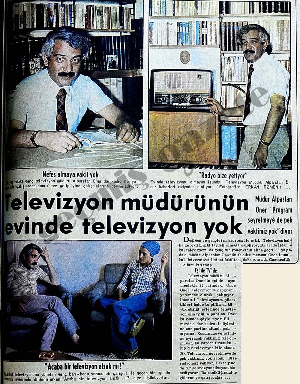Televizyon müdürünün evinde televizyon yok