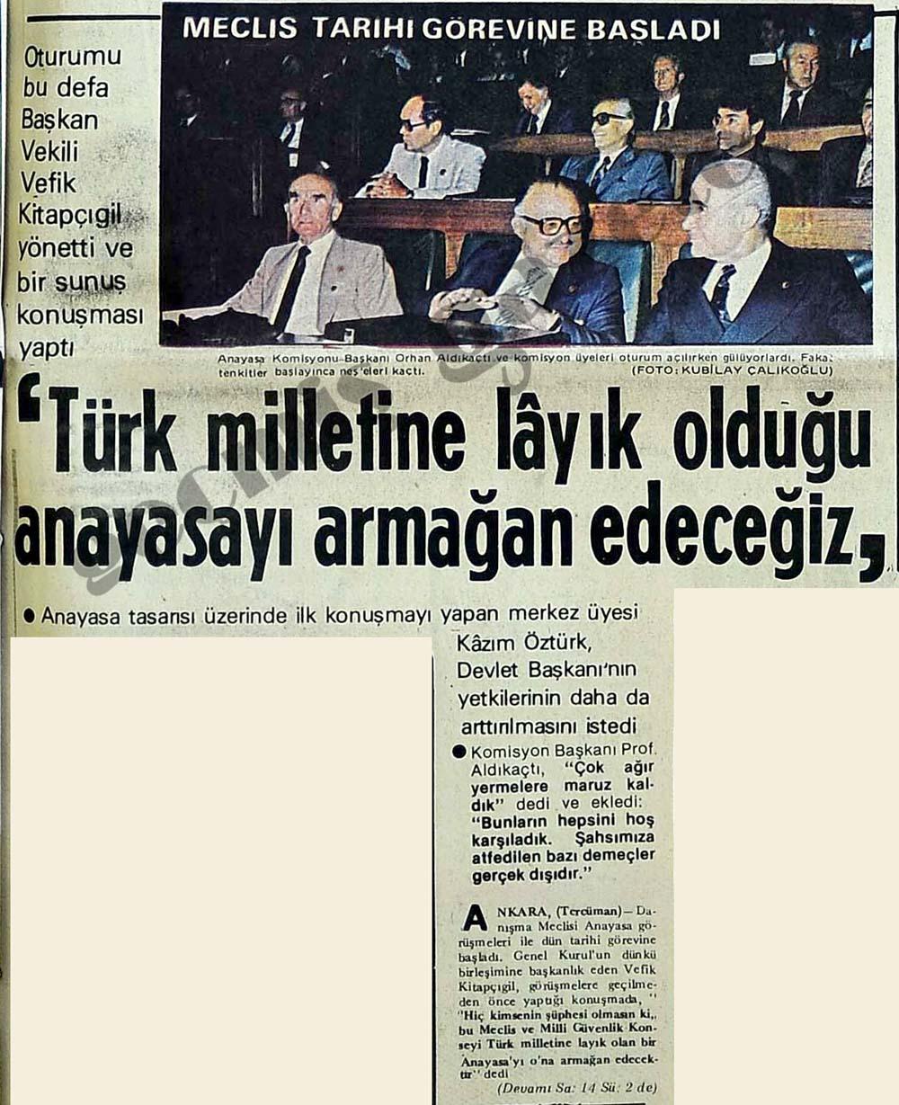 'Türk milletine layık olduğu anayasayı armağan edeceğiz'