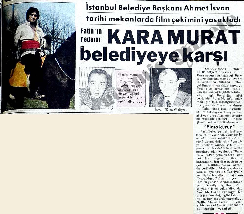 Kara Murat belediyeye karşı