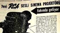 Yeni RCA Sesli Sinema Projektörü yakında geliyor
