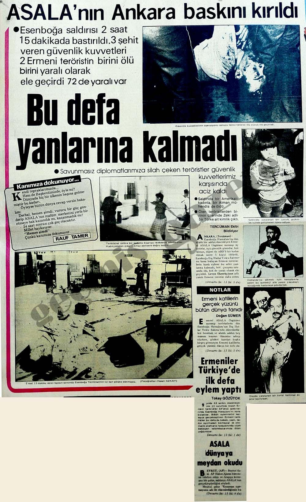 Asalan'nın Ankara baskını kırıldı bu defa yanlarına kalmadı