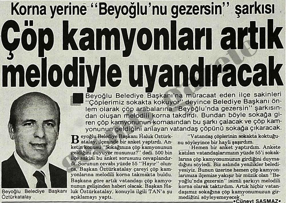 """Korna yerine """"Beyoğlu'nu gezersin"""" şarkısı"""
