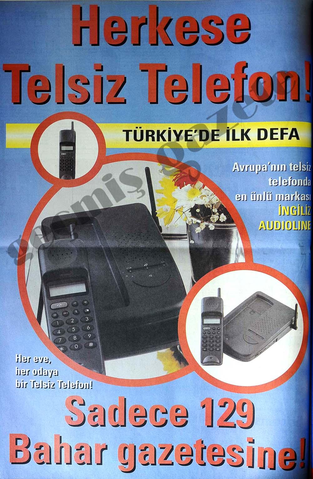 Her eve, her odaya bir Telsiz Telefon!