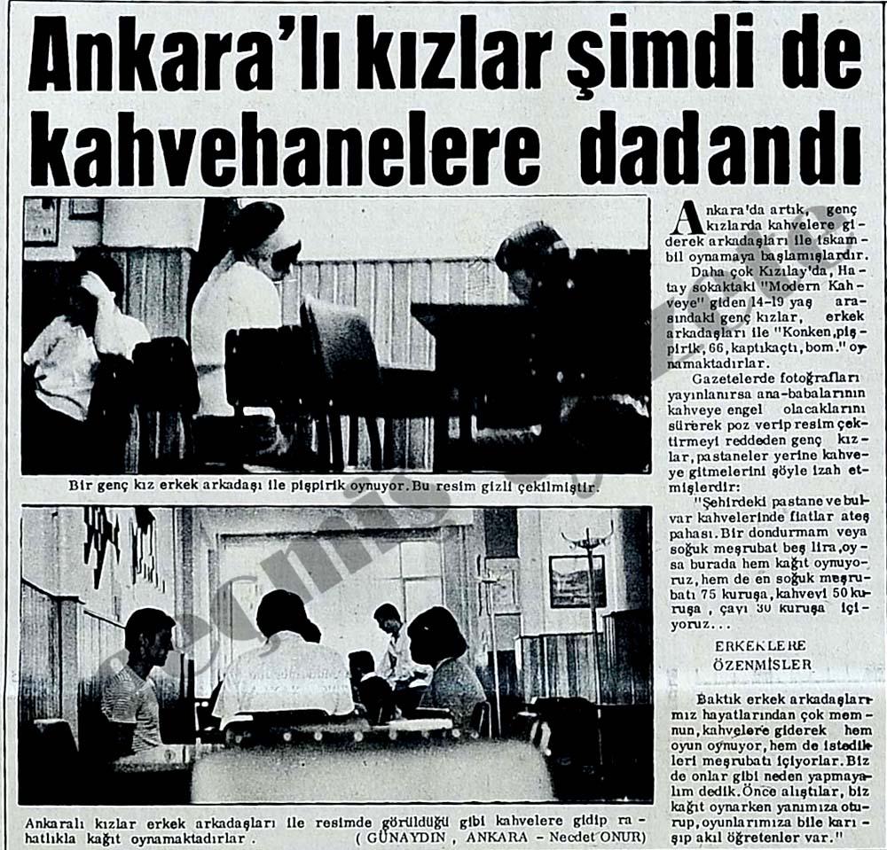 Ankara'lı kızlar şimdi de kahvehanelere dadandı