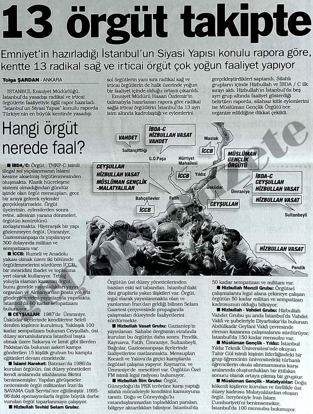 Emniyet'in hazırladığı İstanbul'un Siyasi Yapısı konulu rapor