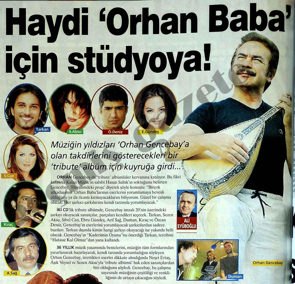 Haydi 'Orhan Baba' için stüdyoya!