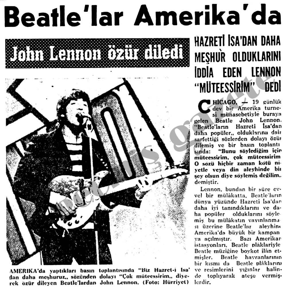 Lennon özür diledi