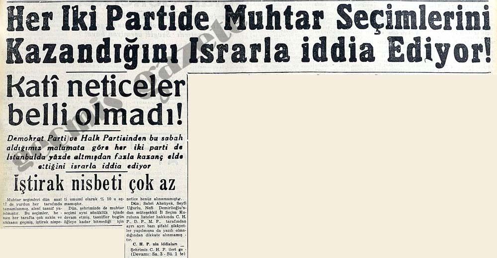Her İki Partide Muhtar Seçimlerini Kazandığını Israrla iddia Ediyor!