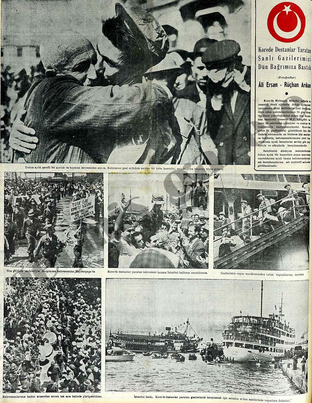 İstanbul Kore kahramanlarını karşıladı
