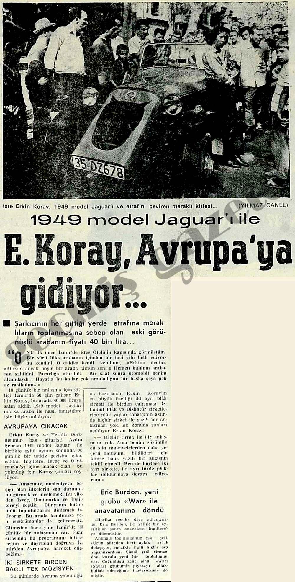E. Koray, Avrupa'ya gidiyor