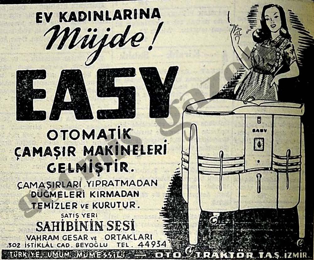 Ev Kadınlarına Müjde! Easy otomatik çamaşır makineleri gelmiştir