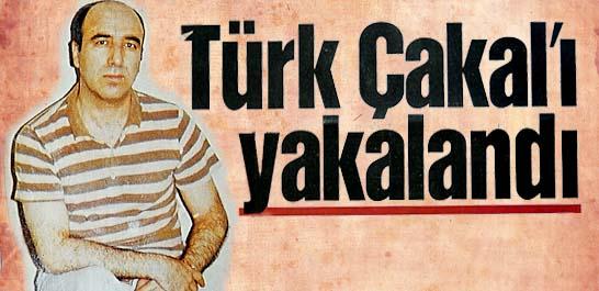 Türk Çakal'ı yakalandı