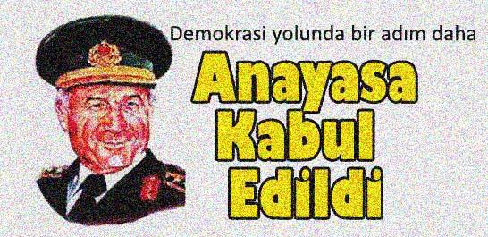 Demokrasi yolunda bir adım daha... Anayasa kabul edildi