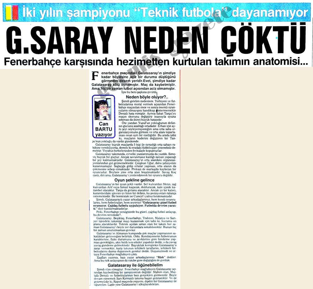 G.SARAY NEDEN ÇÖKTÜ