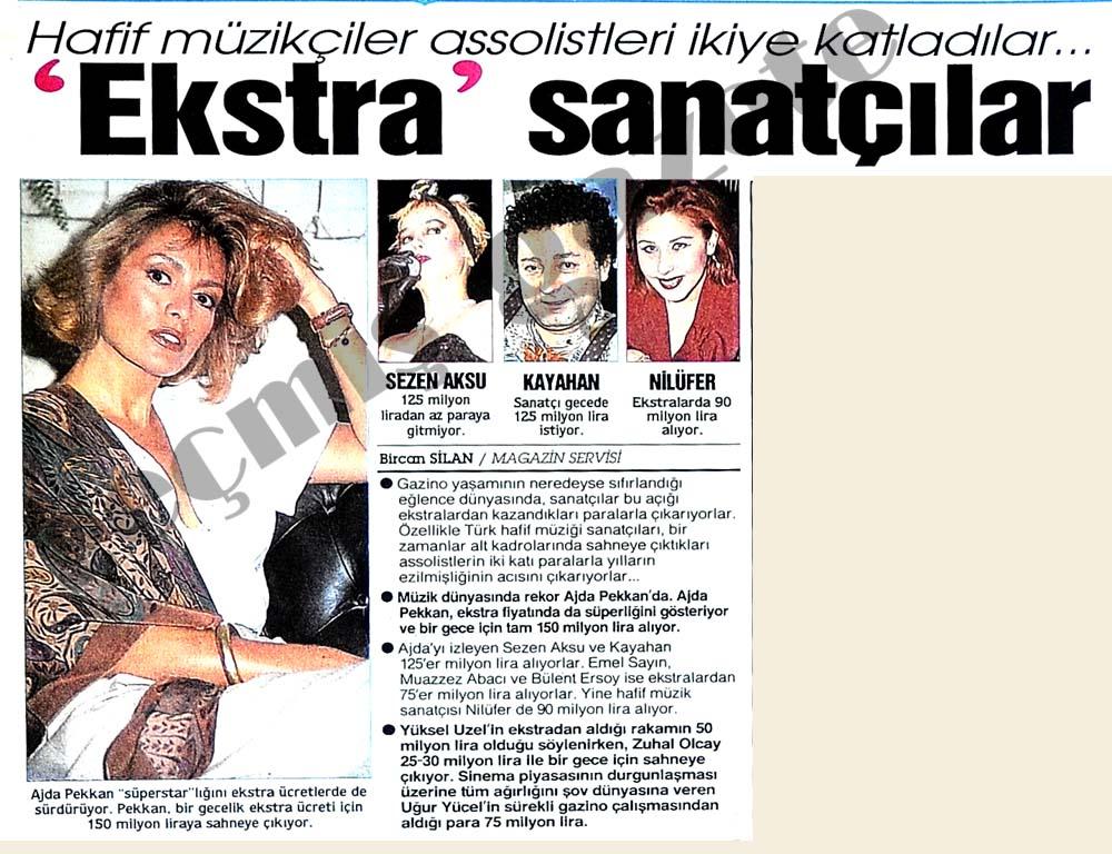 """""""Eksta"""" sanatçılar"""