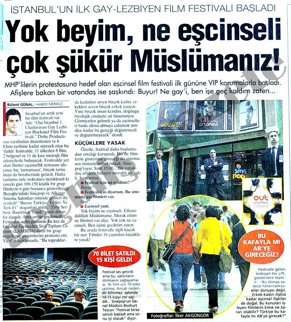 İstanbul'un ilk Gay-Lezbiyen Film Festivali Başladı