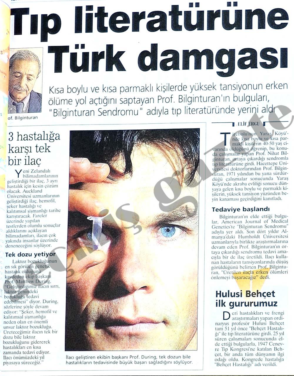 Tıp literatürüne Türk damgası