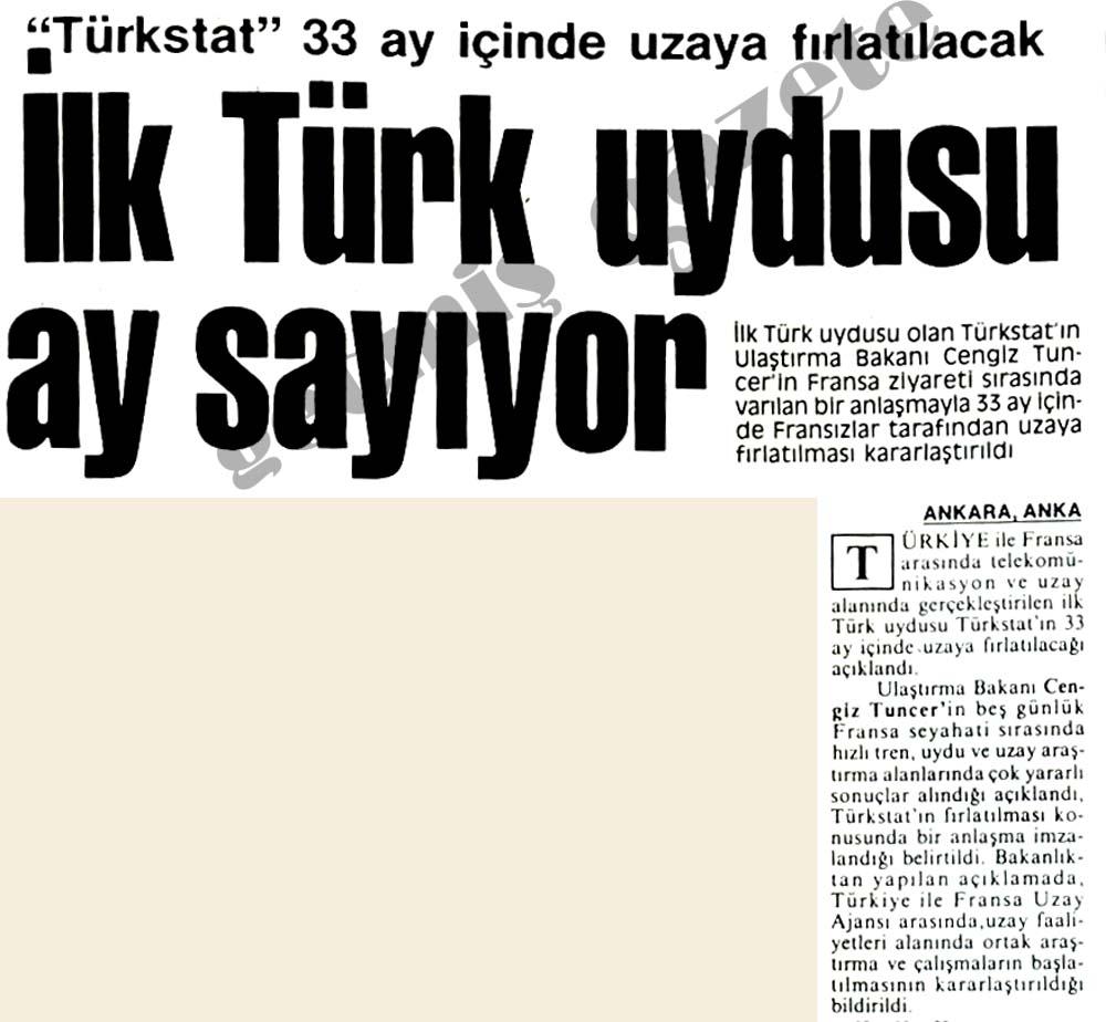 İlk Türk uydusu ay sayıyor