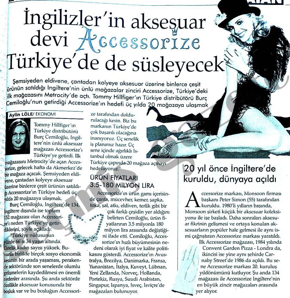 İngilizler'in aksesuar devi Accessorize Türkiye'de de süsleyecek