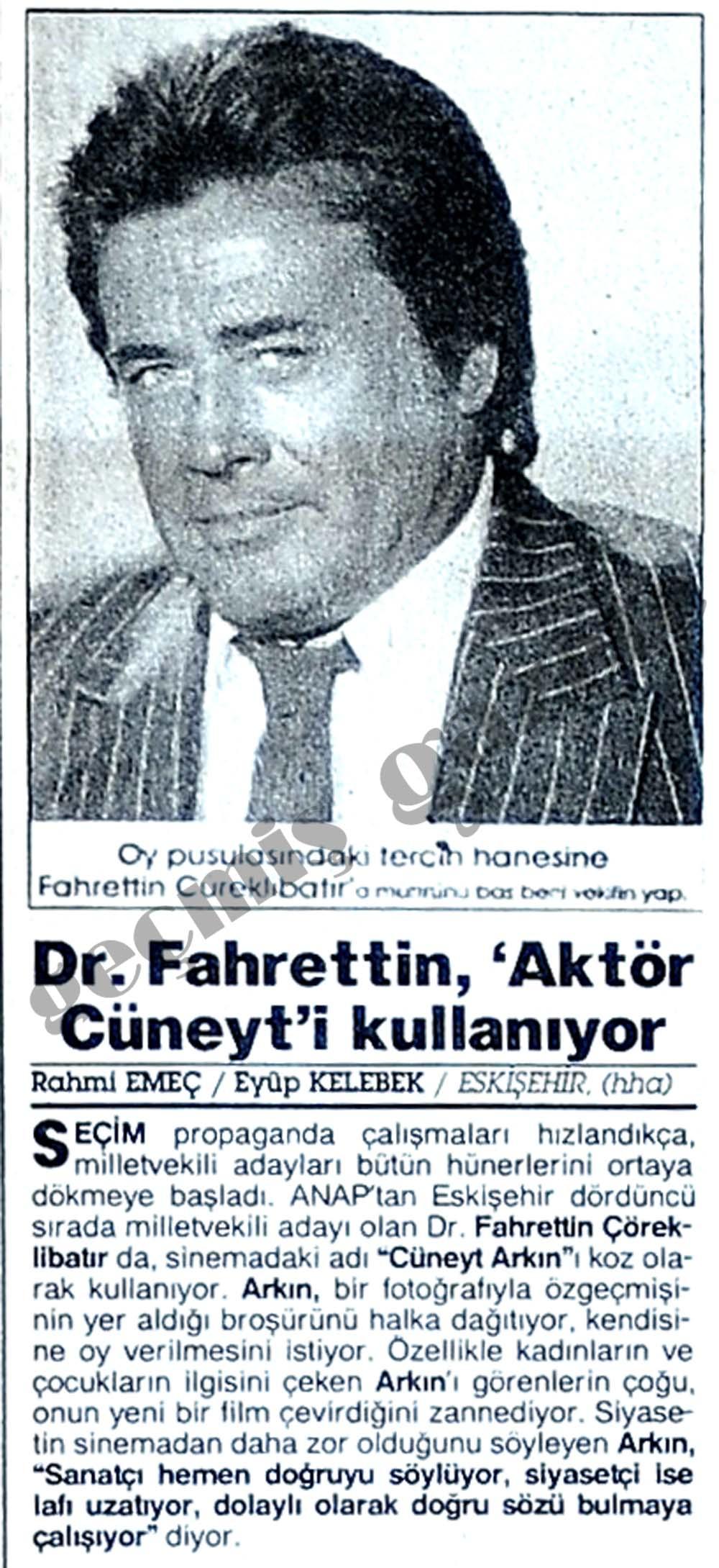 Dr. Fahrettin, 'Aktör Cüneyt'i kullanıyor