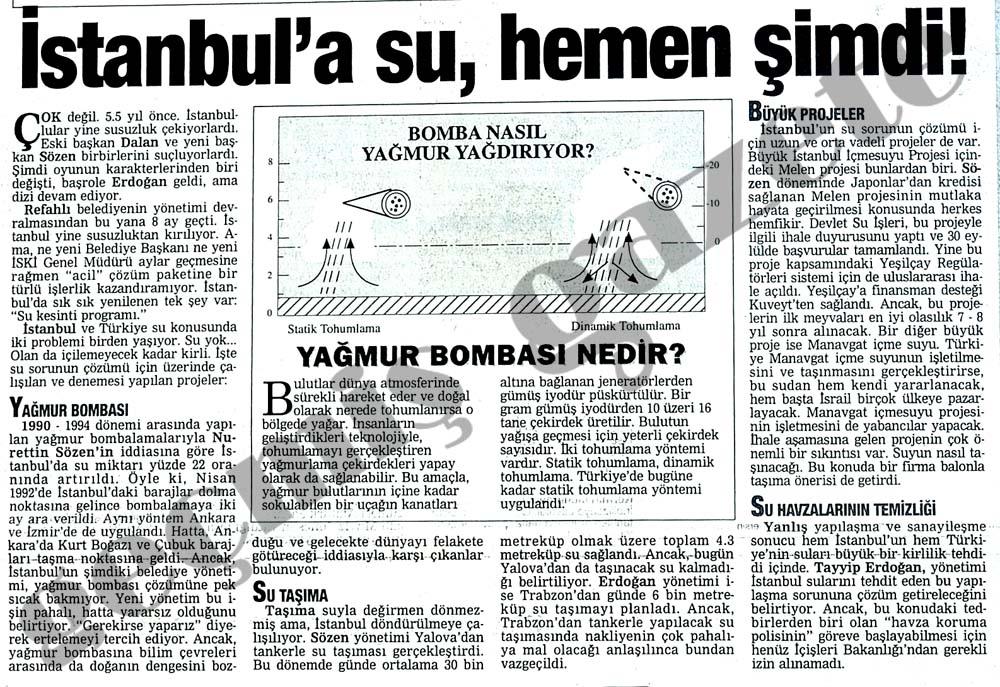 İstanbul'a su, hemen şimdi!