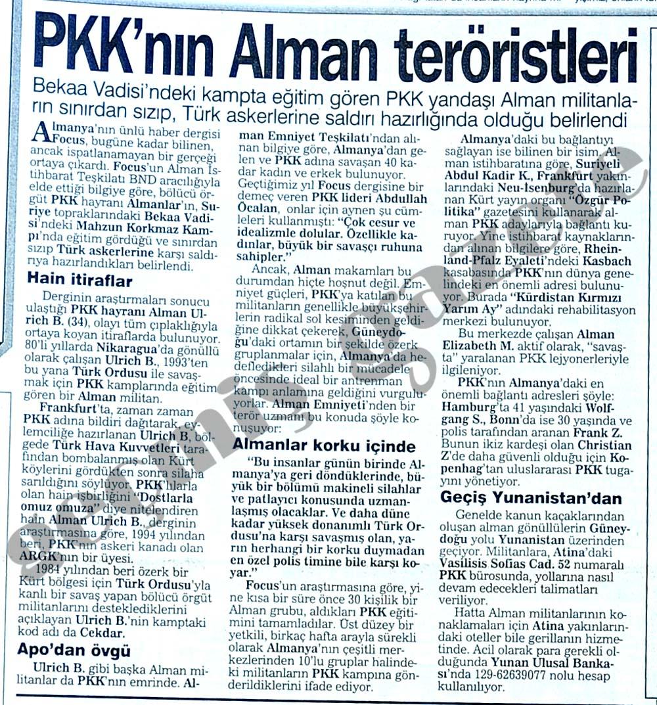 PKK'nın Alman teröristleri