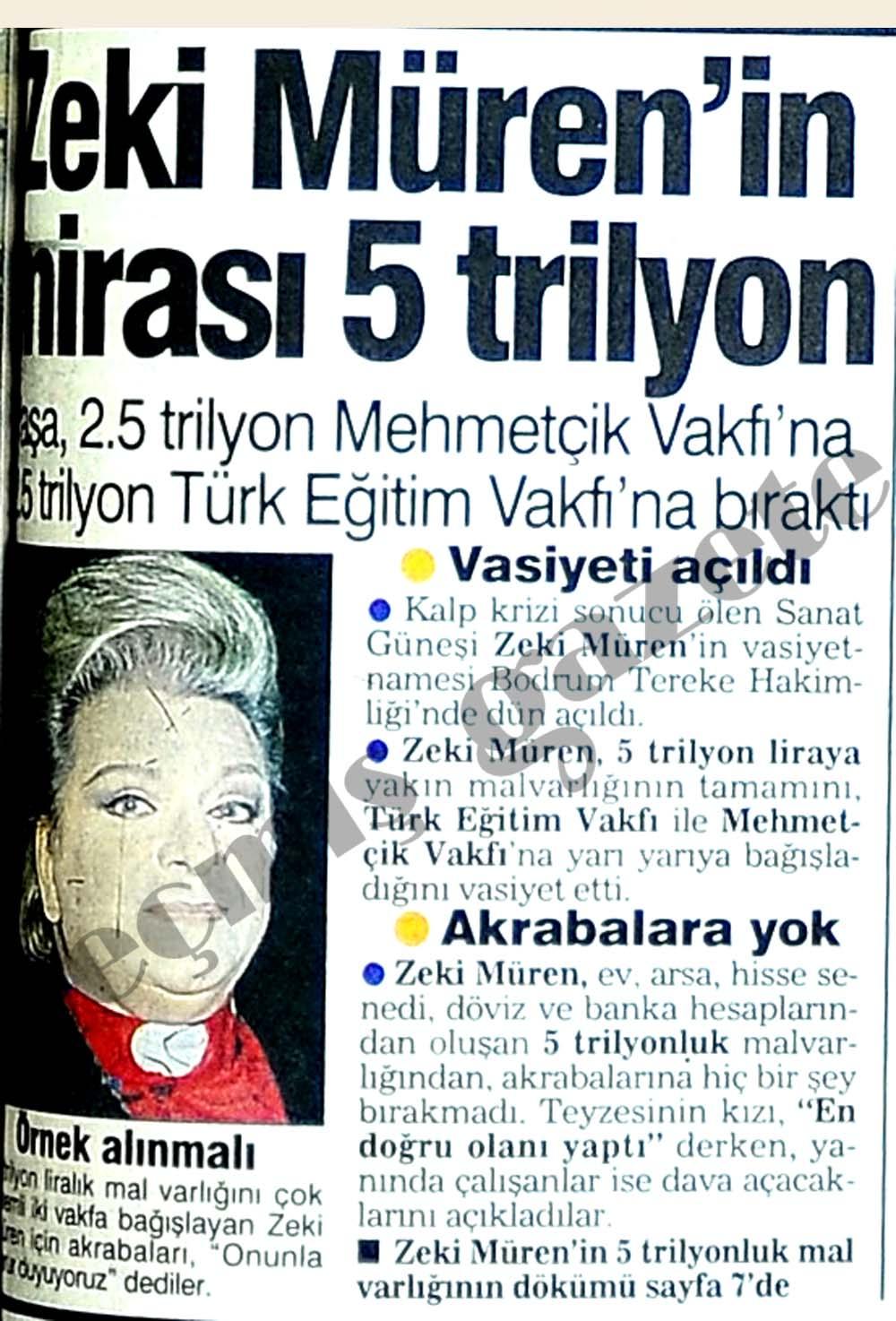Zeki Müren'in mirası 5 trilyon