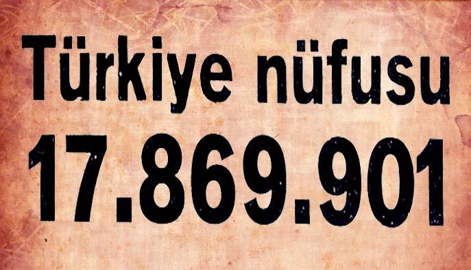 Türkiye nüfusu 17.869.901