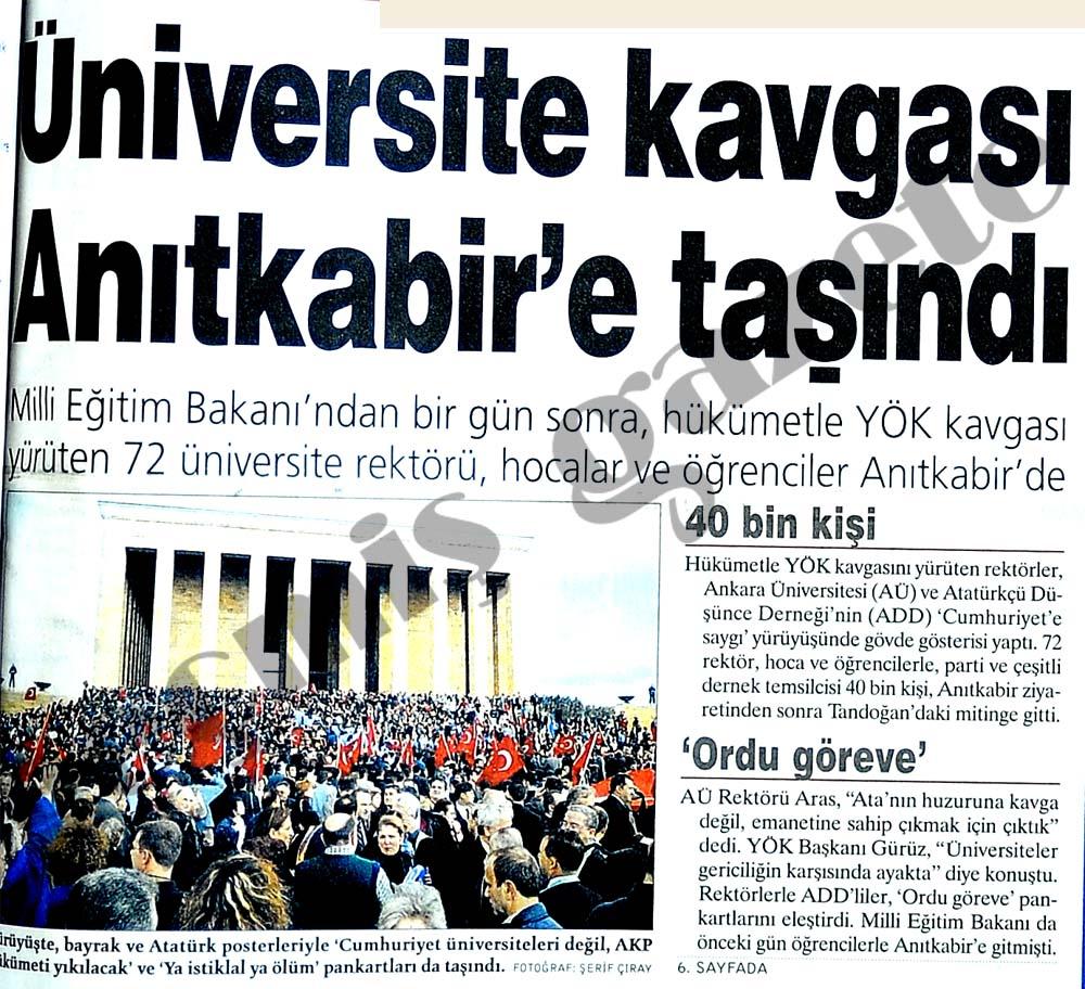 Üniversite kavgası Anıtkabir'e taşındı