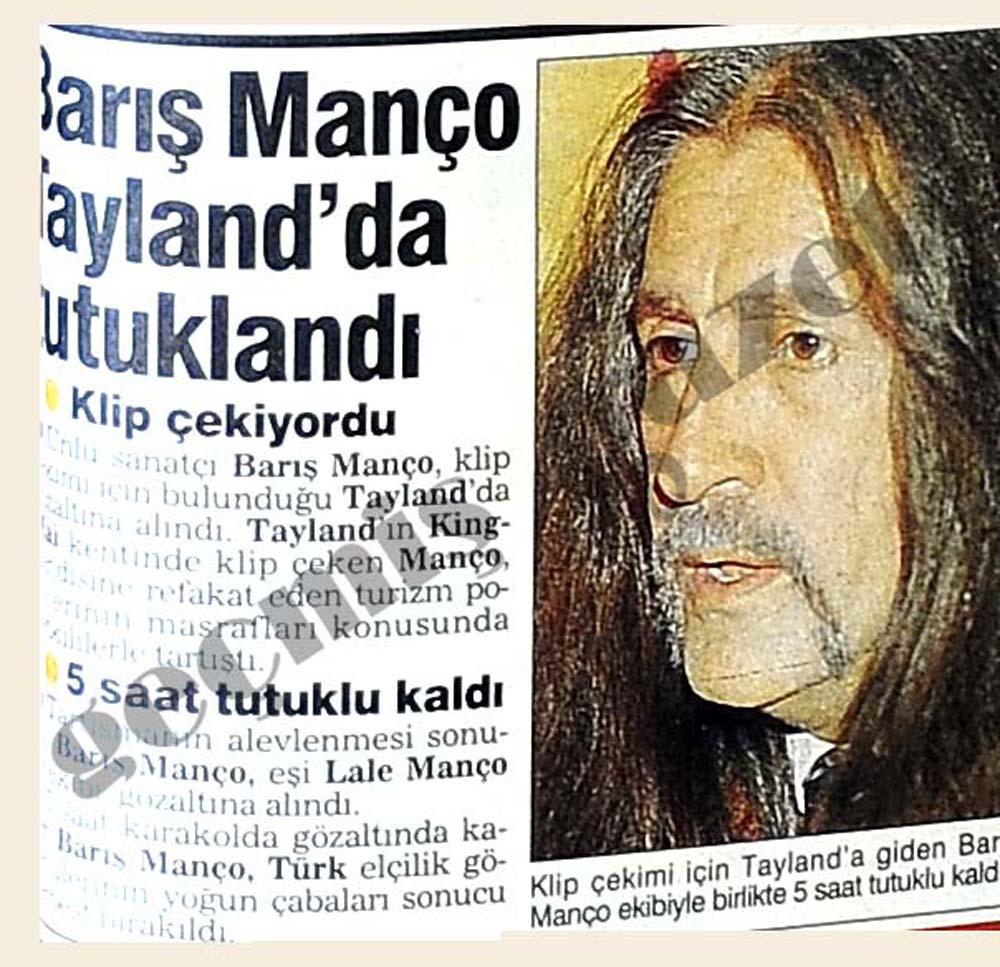 Barış Manço tutuklandı
