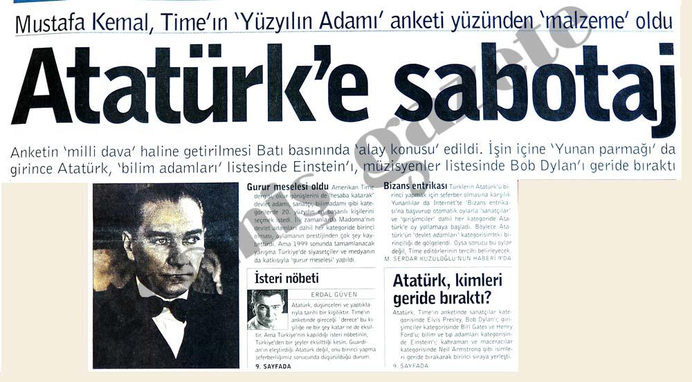 Atatürk'e sabotaj