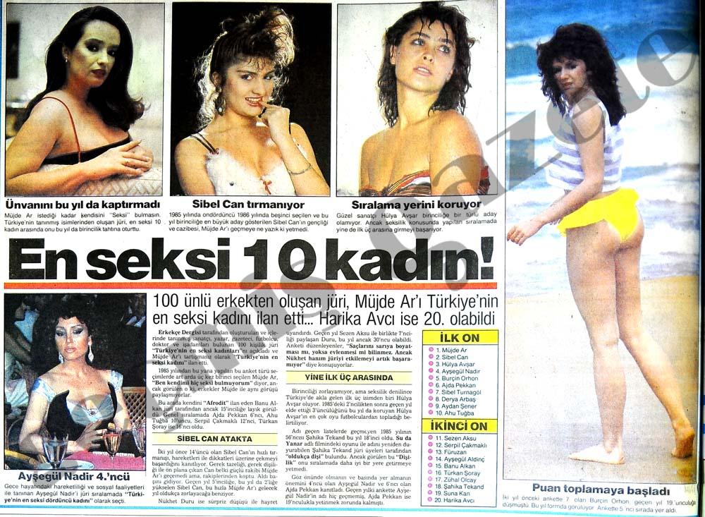 En seksi 10 kadın!