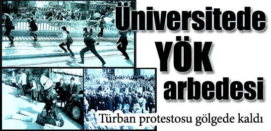 Üniversitede YÖK arbedesi