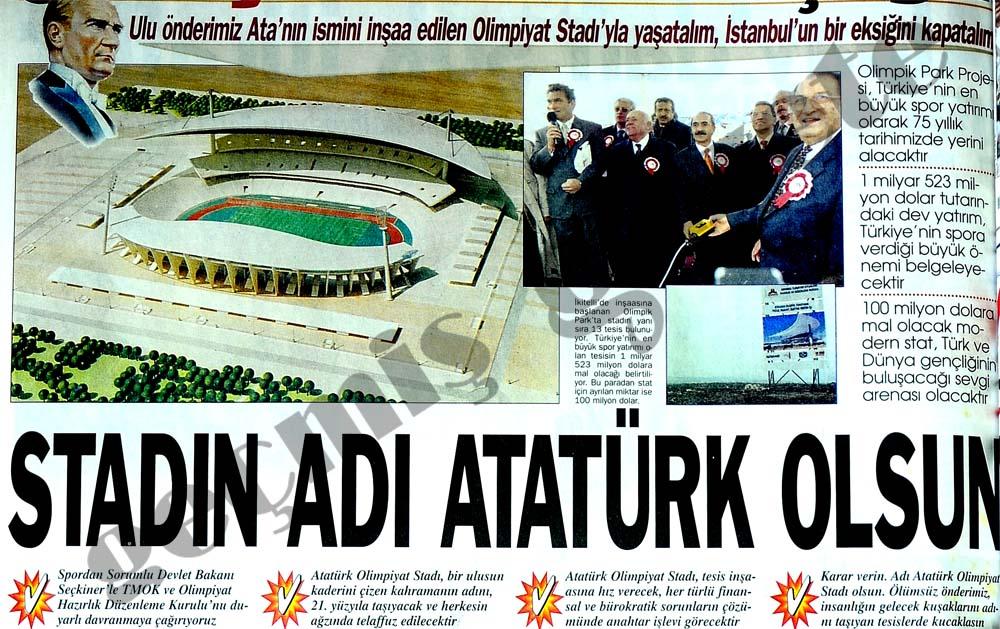 Stadın adı Atatürk olsun