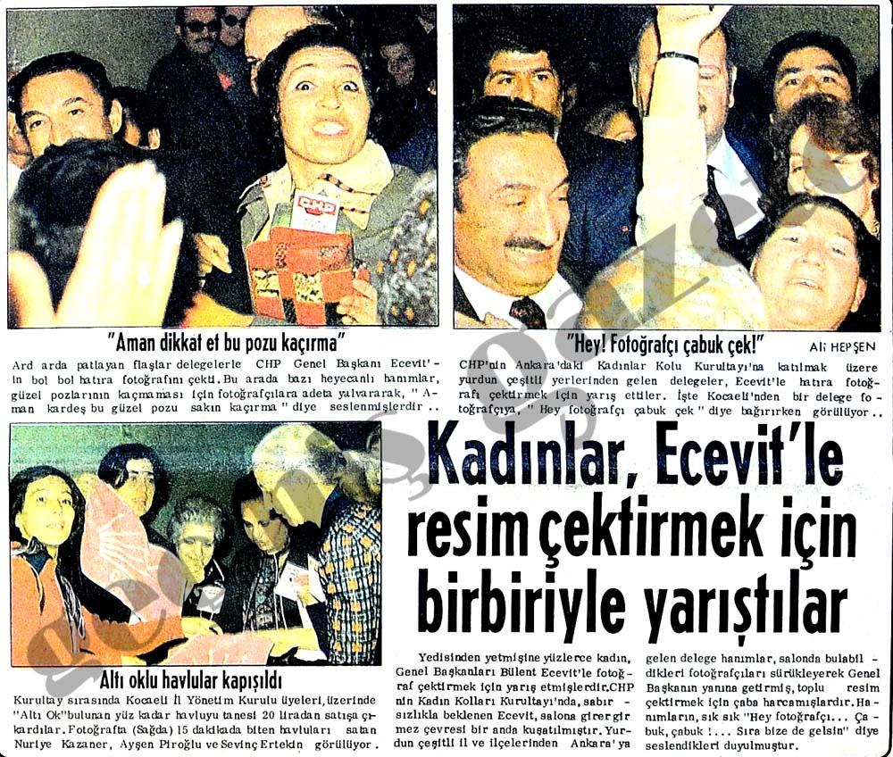 Kadınlar, Ecevit'le resim çektirmek için birbiriyle yarıştılar