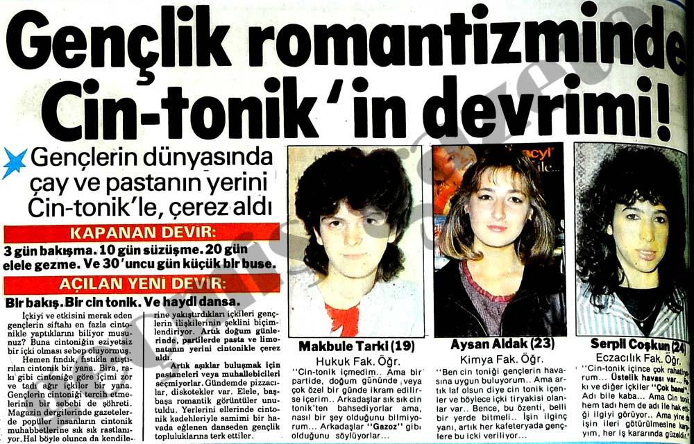Gençlik romantizminde Cin-tonik'in devrimi