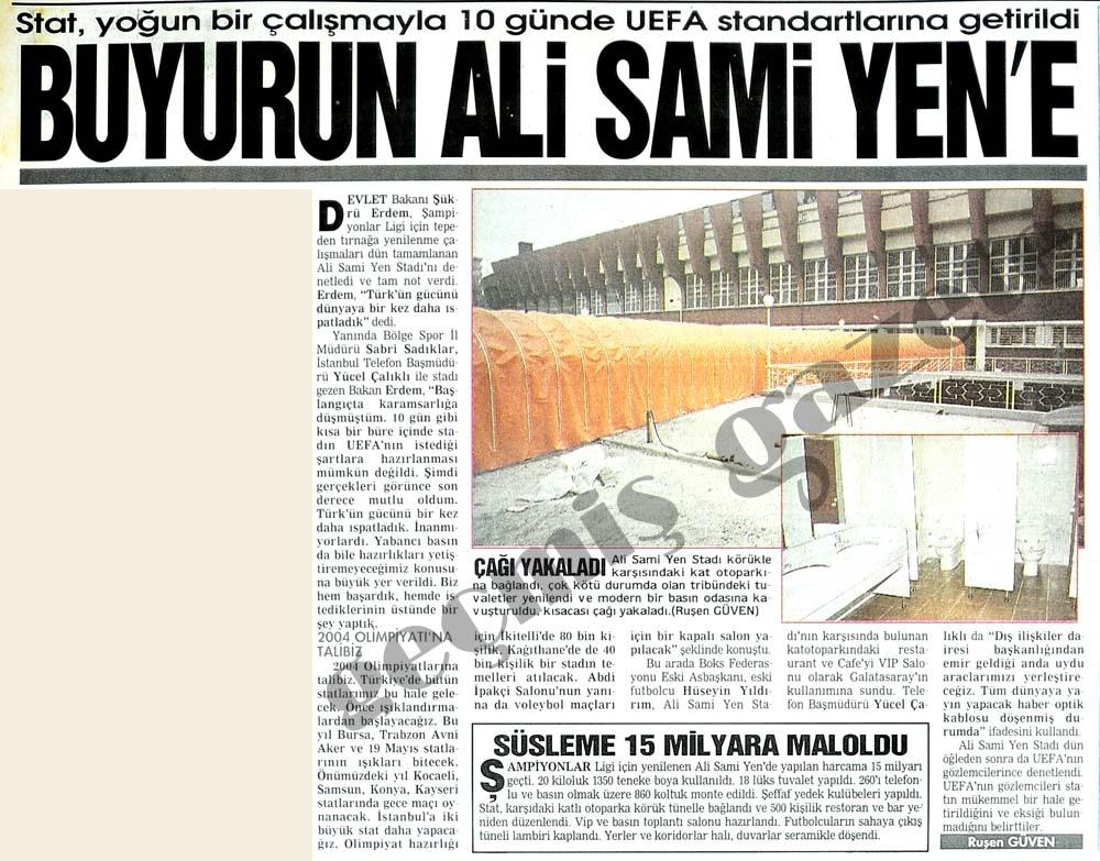 Buyurun Ali Sami Yen
