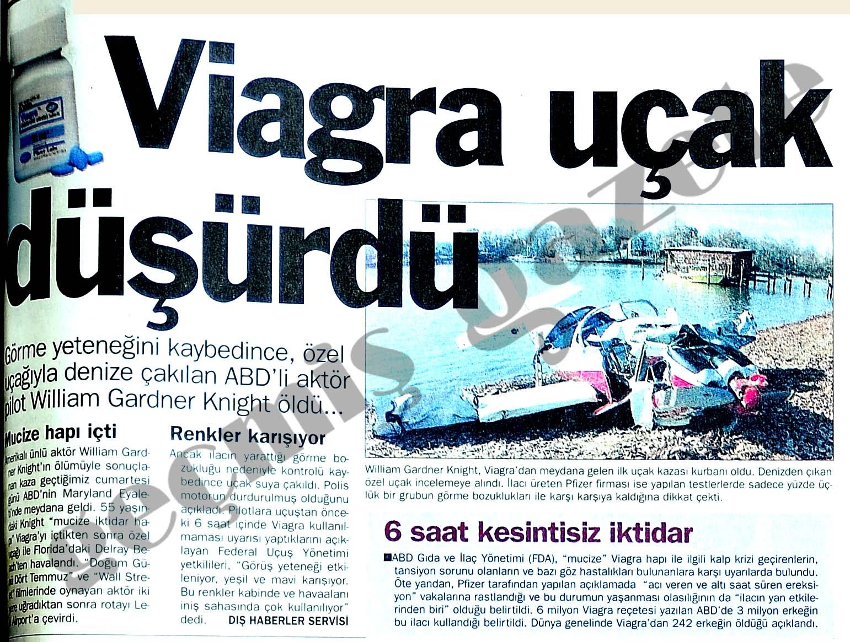 Viagra uçak düşürdü