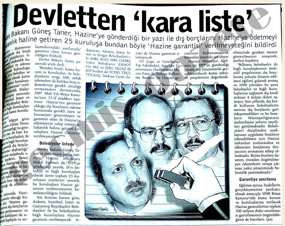 Devletten 'kara liste'