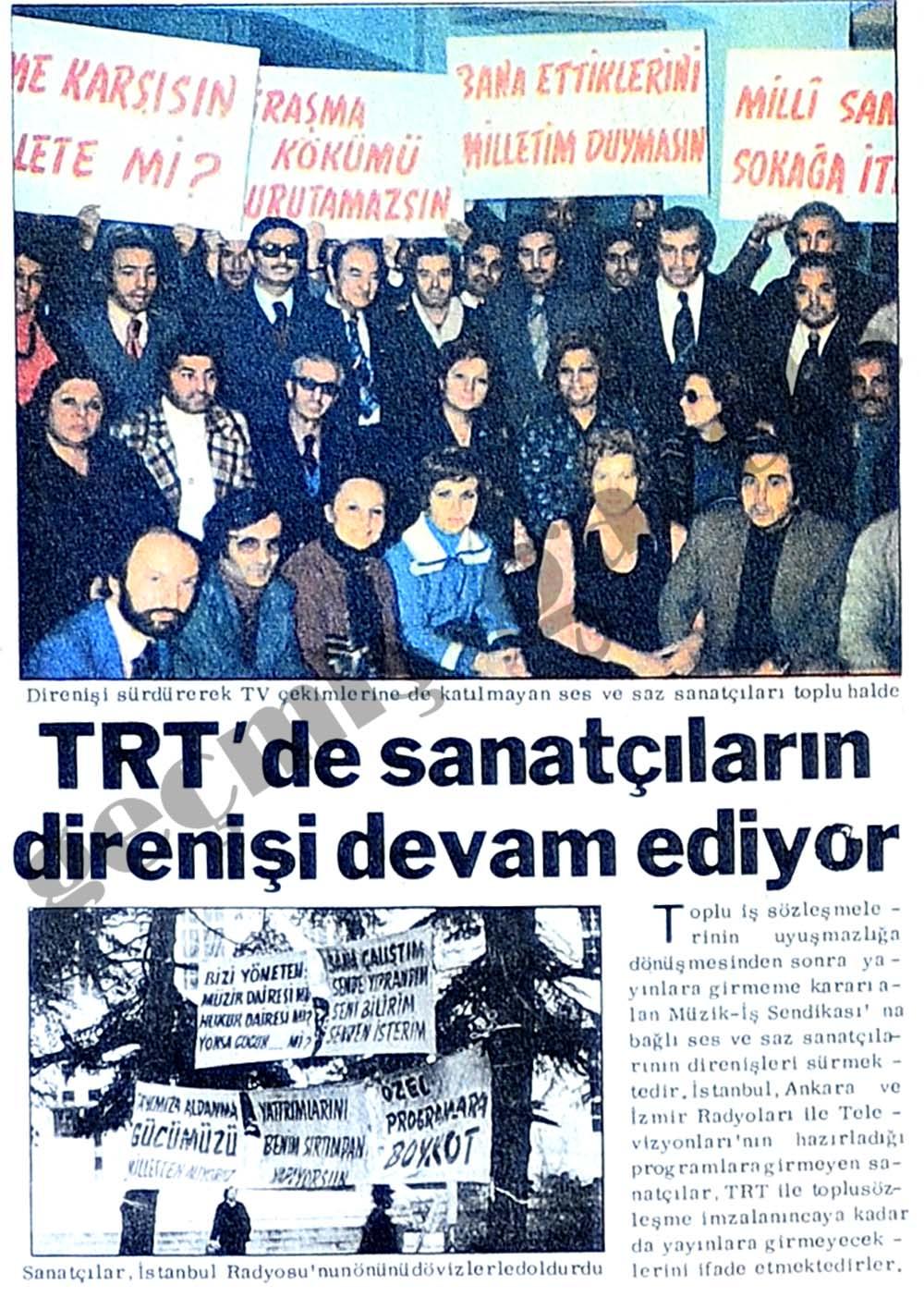 TRT'de sanatçıların direnişi devam ediyor