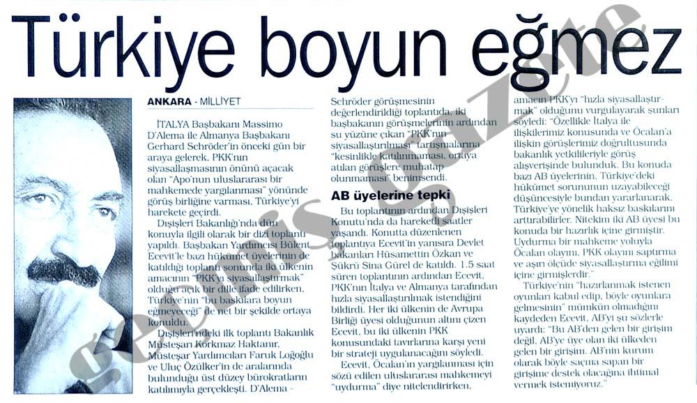 Türkiye boyun eğmez