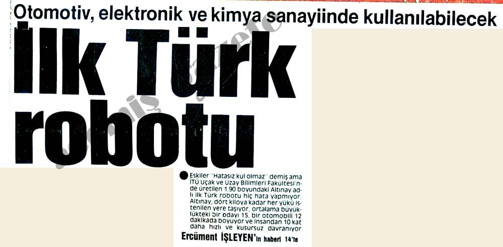 İlk Türk robotu